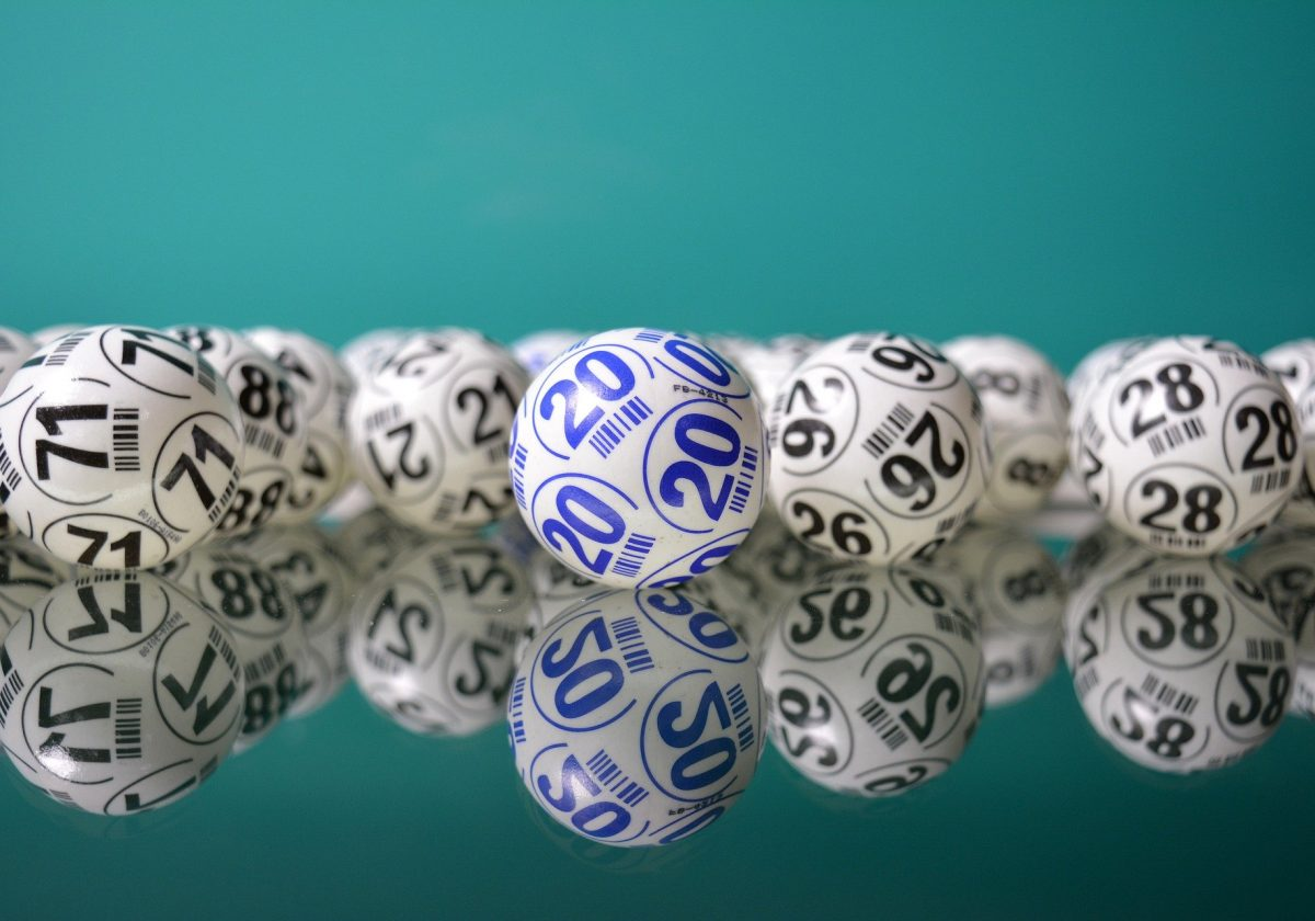 Lotto balls with numbers
